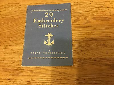 Vintage Book 29 Embroidery Stitches - Acceptable Condition - Pamphlet