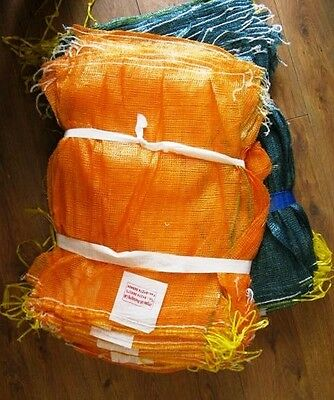 NET BAGS BULK PACK WOVEN NON-STRETCH MESH SACKS - LOGS KINDLE CARROTS ONIONS etc