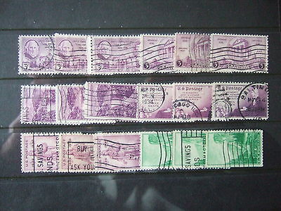 USA - BULK BUY 1930's commems 6 STAMPS x 3 OF EACH - ALL USED