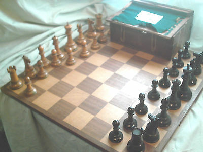 "Antique Jaques Staunton  Chess Set 4"" Inch"