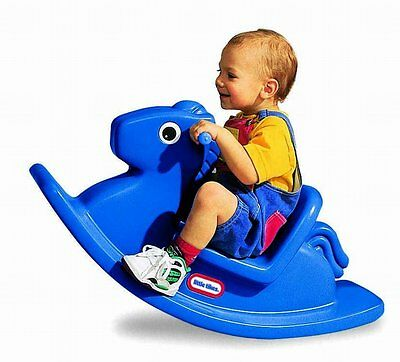 Blue Rocking Horse Toddlers Indoor Outdoor Play Activity Ages 1 to 3 Years
