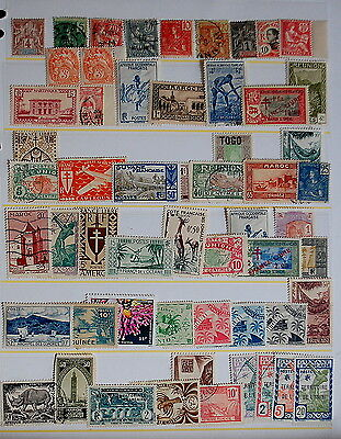 stamps French colonies collection including early issues (55)