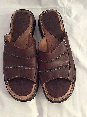 Ladies Colorado Brown Leather Sandals Slip-on Great Quality Size 9 Shoes
