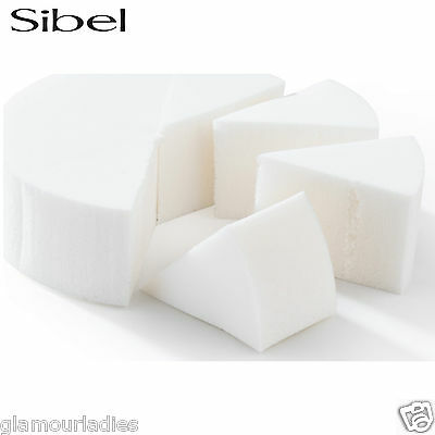 8 x Sibel Latex Makeup Face Triangle Sponges Professional Artist Use Sealed