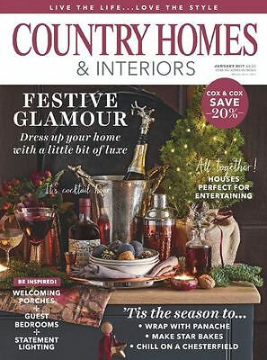 Country Homes & Interiors Magazine January 1/2017 Festive Glamour Cox&Cox 20%OFF