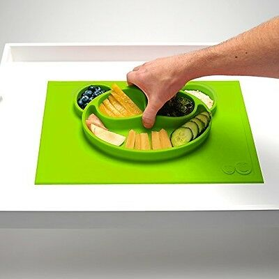 Kids Placemat and Suction Bowl/Plate by Mushy Mushy - Powerful Non Slip Base -