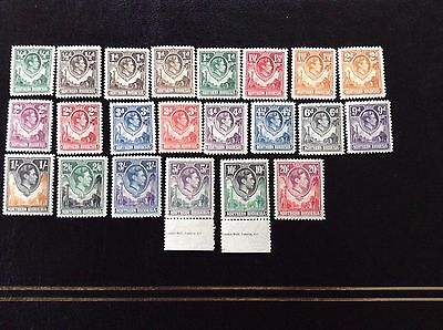 Northern Rhodesia  1938-52, K.G.V1, Complete Mint set of 21, + 1d Chocolate