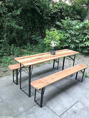 Table + Bancs 6/8 pers. - Design Berlinois - Neuf