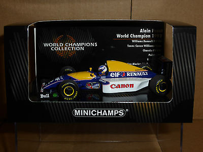 Minichamps 1:43 Alain Prost Williams FW15C 1993 World Champions Collection BNIB