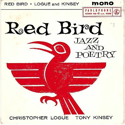 Red Bird Jazz And Poetry Christopher Logue Tony Kinsey Parlophone 1959 EX