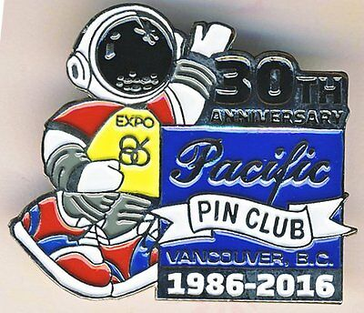 EXPO 86 VANCOUVER B.C.- PACIFIC PIN CLUB 1986-2016 - 30th ANNIVERSARY PIN/BADGE