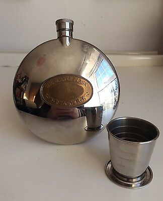 Grants Of Dalvey Hip Flask Scotland With Cup Engraved HSG Steel
