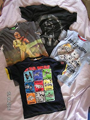 4 Boys Star Wars T Shirts Tops Age 7 - 8 years