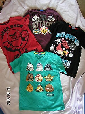 4 Boys Angry Birds T Shirts Tops Age 8 - 10 years