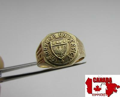 Vintage 1941 McMaster University Canada Solid 10k Gold Ring~4g~Size 6