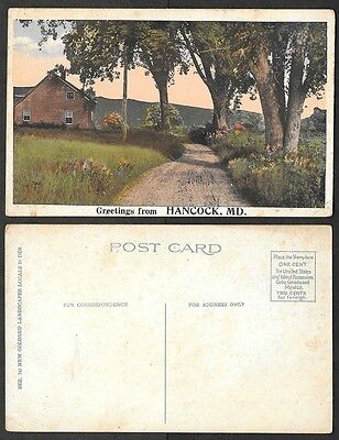 Old Maryland Postcard - Greetings from Hancock