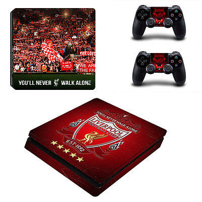 PS4 SLIM Skin Sticker Liverpool Vinyl Decal for Console & 2 Controllers NEW