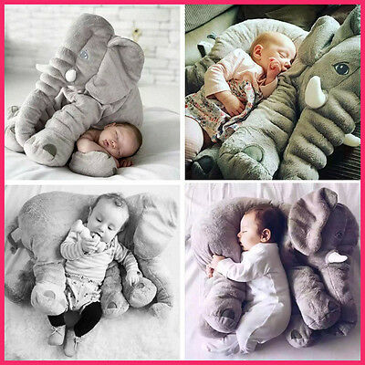 60CM Plush Toy Long Nose Elephant Pillows PP Cotton Stuffed Baby Soft Doll Fine