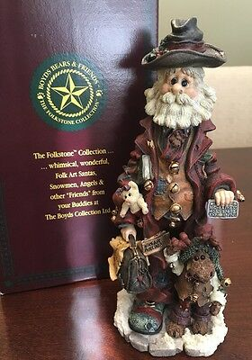 Boyds Bears Folkstone - Execunick The First Global Business Man Santa Figurine