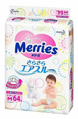From Japan Kao Merries Diaper Air Through Tape 64pcs M Size