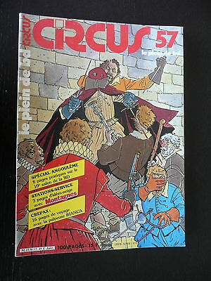 Magazine Circus N° 57,1983,spécial Angoulême,stations-service,Crepax