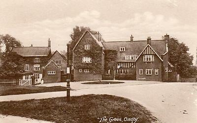 The Green Oadby Nr Leicester unused old pc J G Ward Ref A49