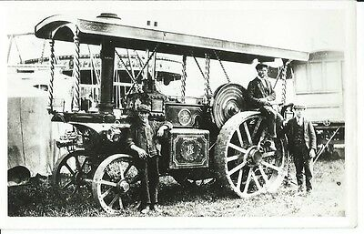 """Traction Engine, Burrell, """"empress Of The West"""", 1912, Plain Back Photo Postcard"""