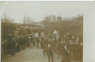 Social History, Crowd Leaving A Church Event, Unknown Location, Photo Postcard