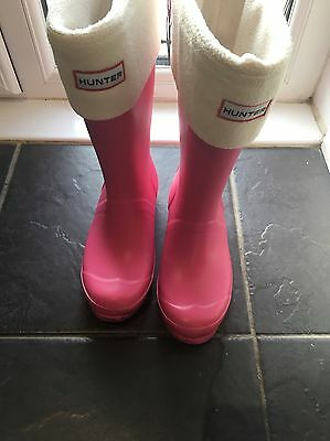 Hunter Wellie Size 2  With Socks