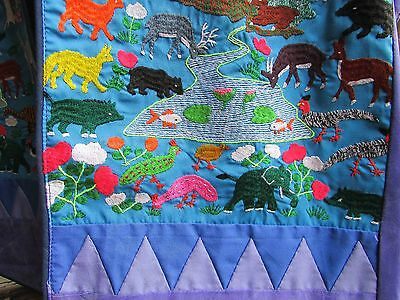 Hmong Vest Embroidered Animals Bright Teacher Daycare Handmade Unique