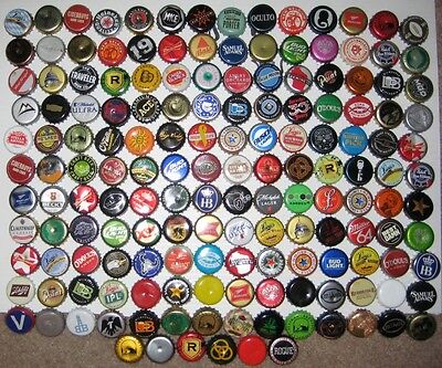 160+ ASSORTED BEER BOTTLE CAPS (Each Different) Many Colors!!!