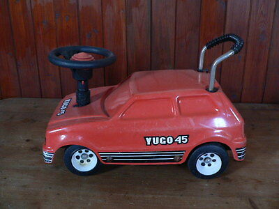 vintage yugo 45 push along car sit ride on toy not pedal car made by Tip