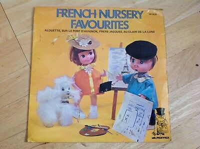 "French Nursery Favourites 7"" Single 45 RPM Childrens"