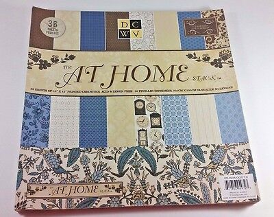 DCWV 12 Inch x 12 Inch Printed Cardstock The At Home Stack Glitter (32 sheets)
