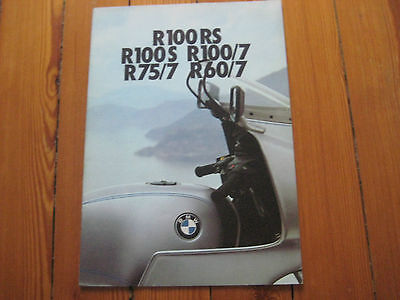 Brochure Prospekt Dépliant Prospectus 1976 BMW R100 rs r75 r60 French Moto Bike