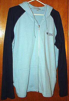 CBS Television - Ladies XXL Zipper Hoodie Jacket Embroidered Long-Sleeve Pockets