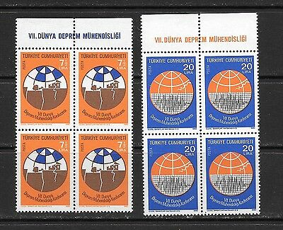Turkey 1980 Earthquake Engineering Block of Four Mint Never Hinged **