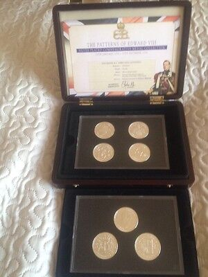 The Patterns Of Edward v111 Silver Plated Commemorative Medal Collection