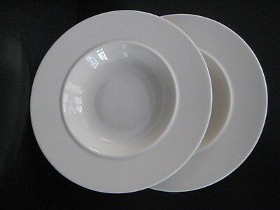 Alessi La Bella Tavola Set Of 2 Rimmed Shallow Bowls Soup Cereal Pudding Desert