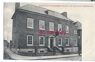 Recreation Refreshment Room and Institute, Brentwood, Essex postcard by E French
