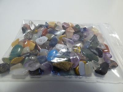 pd23-LOT BUNDLE OF SEMI-PRECIOUS STONES AGATES ETC FOR JEWELLERY MAKING CRAFTS