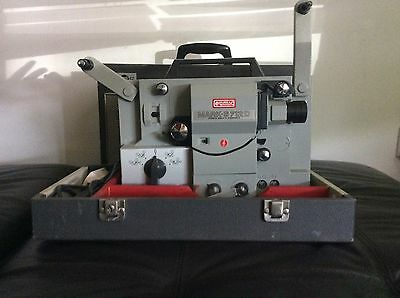 1969 Eumig Mark S 712D Film Projector With 6 8mm Vintage Films &  XLarge Screen