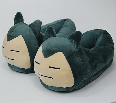 pokemon Snorlax N02 plush indoor anime slippers warm house shoes new 1 pair