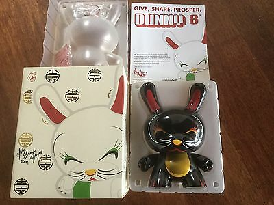 """Dunny 8"""" Lucky Cat Black Chase Sdcc By Shane Jessup Ltd 200 Pieces Kidrobot Rare"""