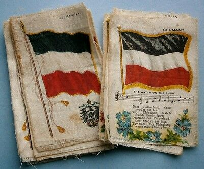 14) NEBO Cigarettes Silk with images of Flags from early 1900's