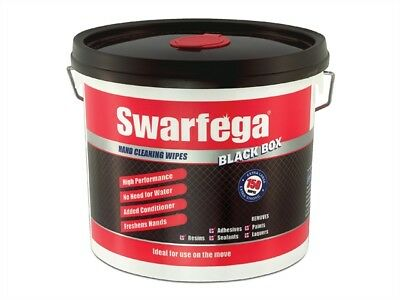 Swarfega SWASBB150W Black Box� Heavy-Duty Trade Hand Wipes (150)