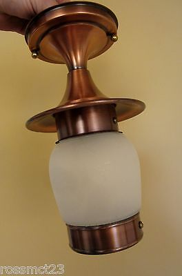 Vintage Lighting never used Mid Century porch hall fixture   More Available