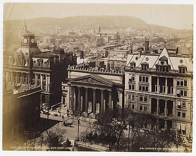 Albumen: MONTREAL from Mt. Royal & Notre Dame by Notman, CANADA, 1880s