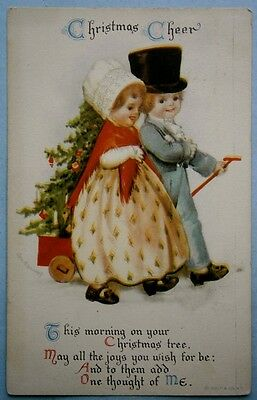 11. Artist Signed Christmas Postcard by Ellen H. Clapsaddle, vintage