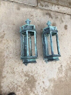 Lt 103 1 Pair Exterior Bronze Wall Sconce